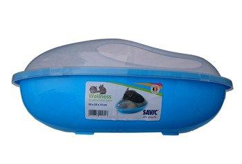 Basen kąpielówka dla szynszyli niebieska