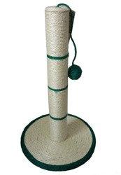 Drapak na podstawie H50-FI30-FI6,5 cm z Piłeczką Kocimiętką Zielony