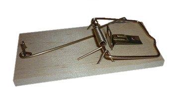 Łapka zatrzaskowa na myszy drewniana Bros