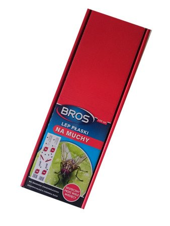 Lep na muchy płaski Bros 100szt komplet