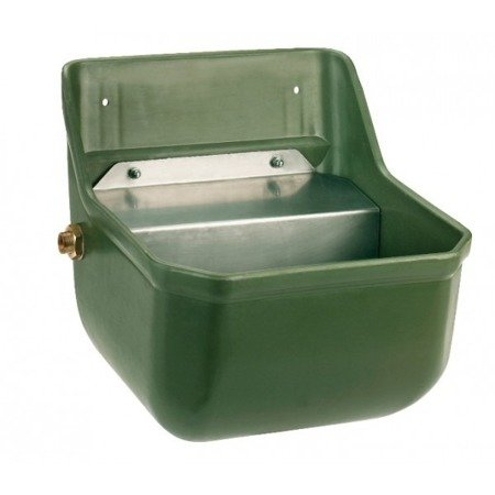 Poidło dla bydła prostokątne oliwkowe z zaworem pływakowym przepustowość 7l/min