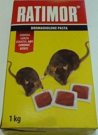 RATIMOR Trutka miękka / pasta 1kg Bromadiolone