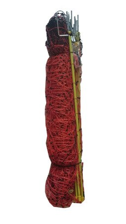 Siatka elektryczna dla owiec 50m 90cm, pomarańczowa podwójny szpic