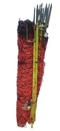 Siatka elektryczna dla owiec OVINET 50m 90cm, pomarańczowa podwójny szpic