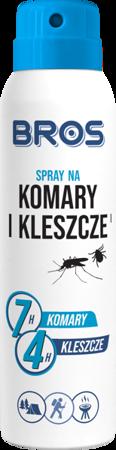Spray na komary i kleszcze 90ml - Bros niebiesko-biały
