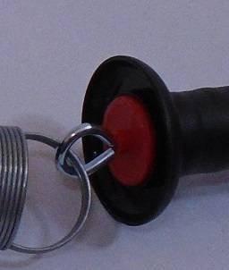 Uchwyt bramowy z hakiem z ogranicznikiem naciągu, czarny